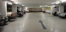 Parkhaus C1 Einfahrt