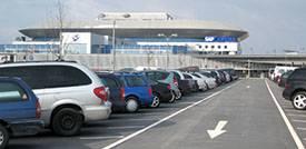 Parkplatz an der SAP Arena